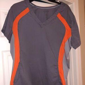 Other - Gray/orange scrub top